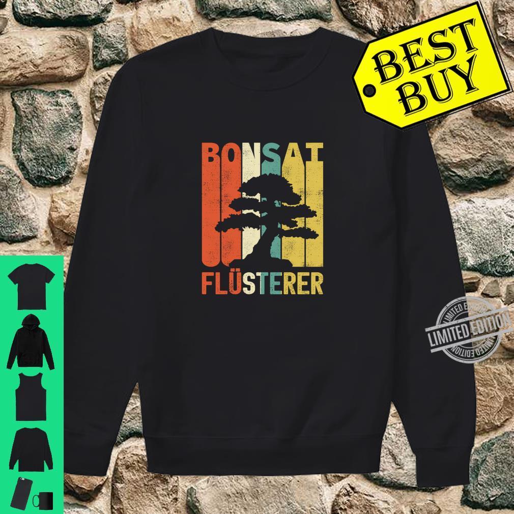 Retro Bonsai Flüsterer Baum Japan Geschenke Langarmshirt Shirt sweater