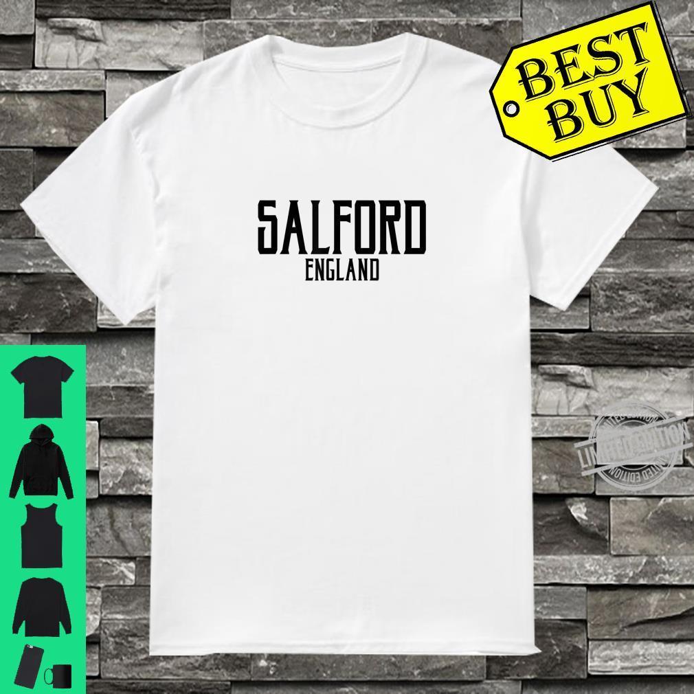 Salford England Vintage Text Black Print Shirt