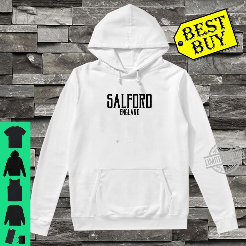 Salford England Vintage Text Black Print Shirt hoodie