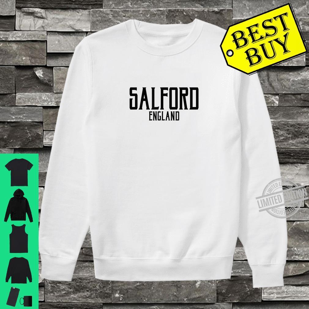 Salford England Vintage Text Black Print Shirt sweater