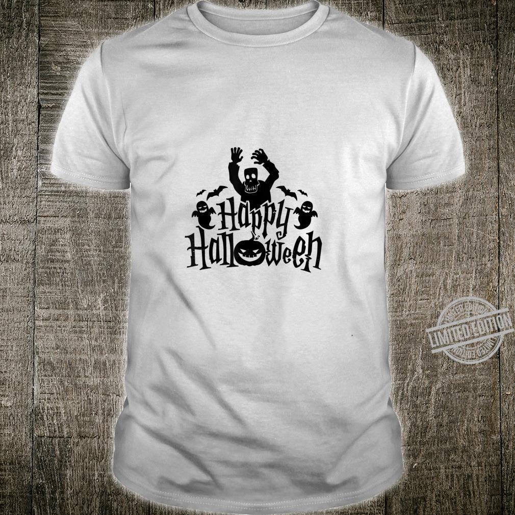 Scary Happy Halloween Ghosts&Pumpkin Shirt