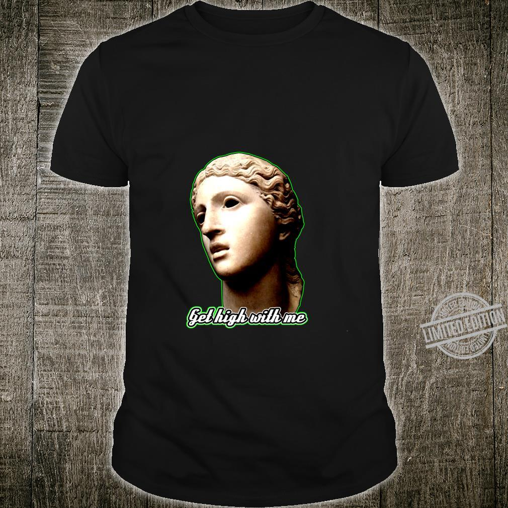 Statue of 420 Weedlover Stoned Statue Cannabis 420daily Shirt
