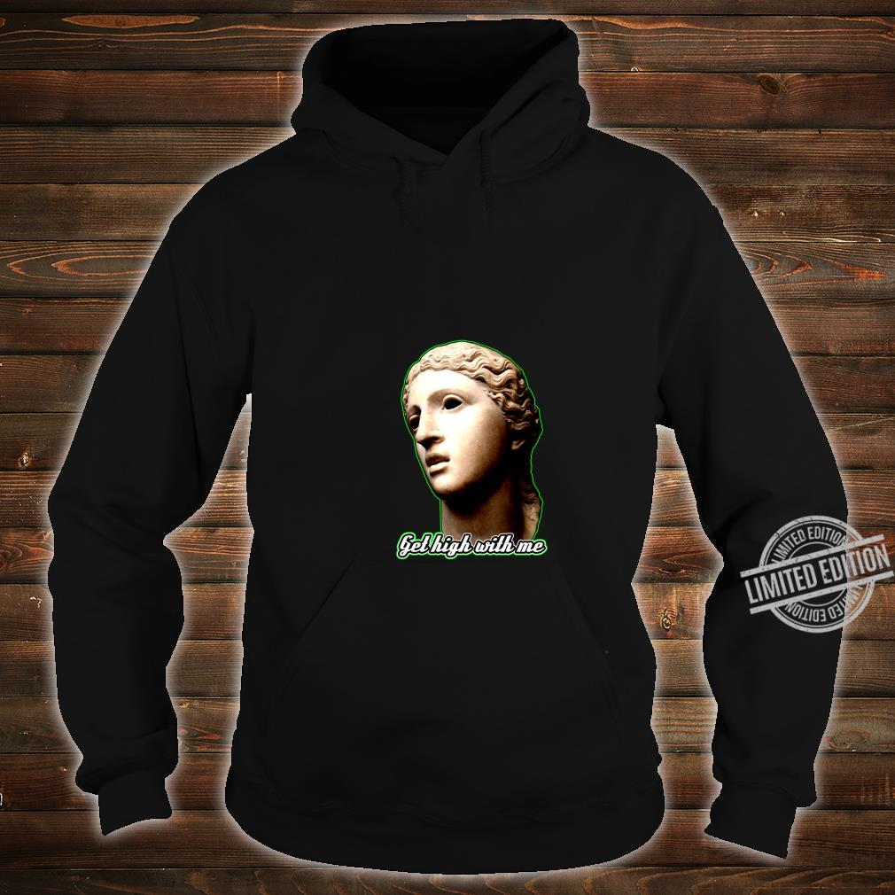 Statue of 420 Weedlover Stoned Statue Cannabis 420daily Shirt hoodie