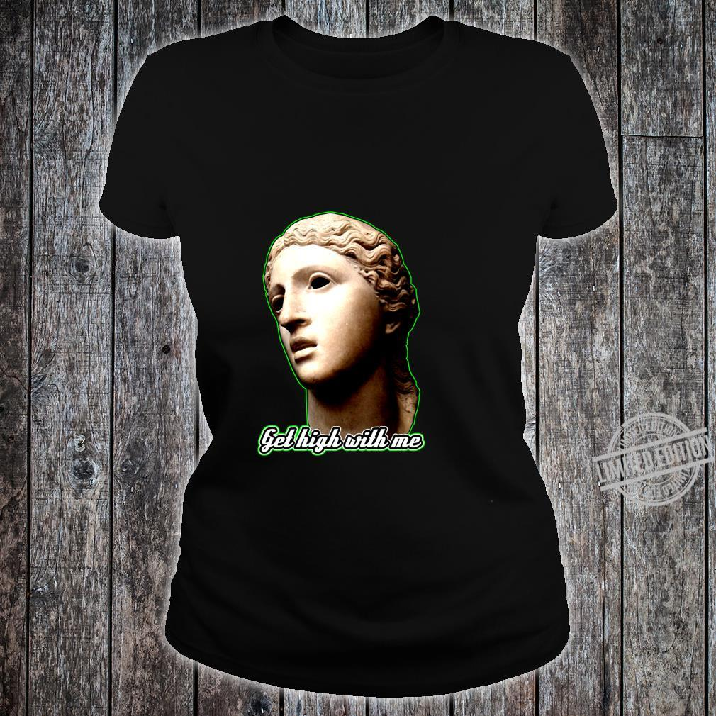 Statue of 420 Weedlover Stoned Statue Cannabis 420daily Shirt ladies tee