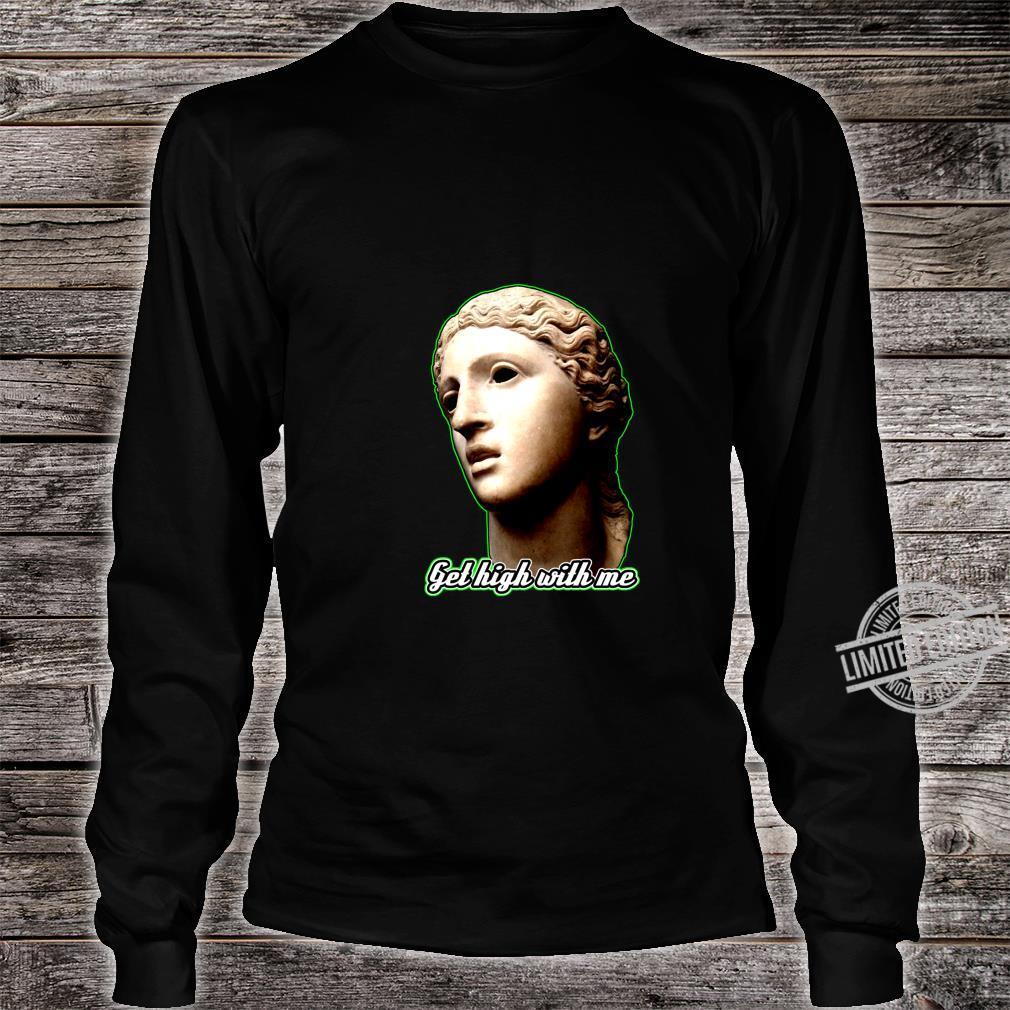 Statue of 420 Weedlover Stoned Statue Cannabis 420daily Shirt long sleeved
