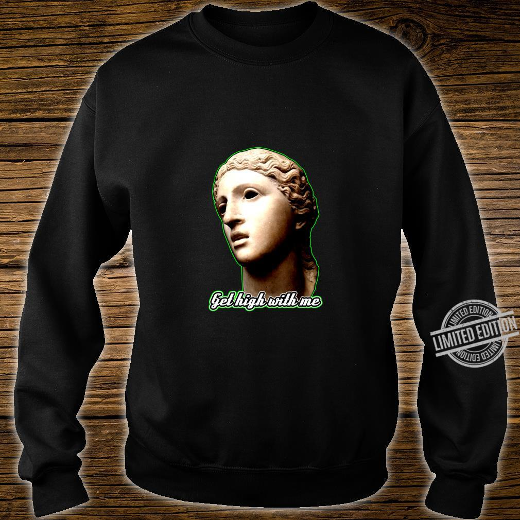 Statue of 420 Weedlover Stoned Statue Cannabis 420daily Shirt sweater
