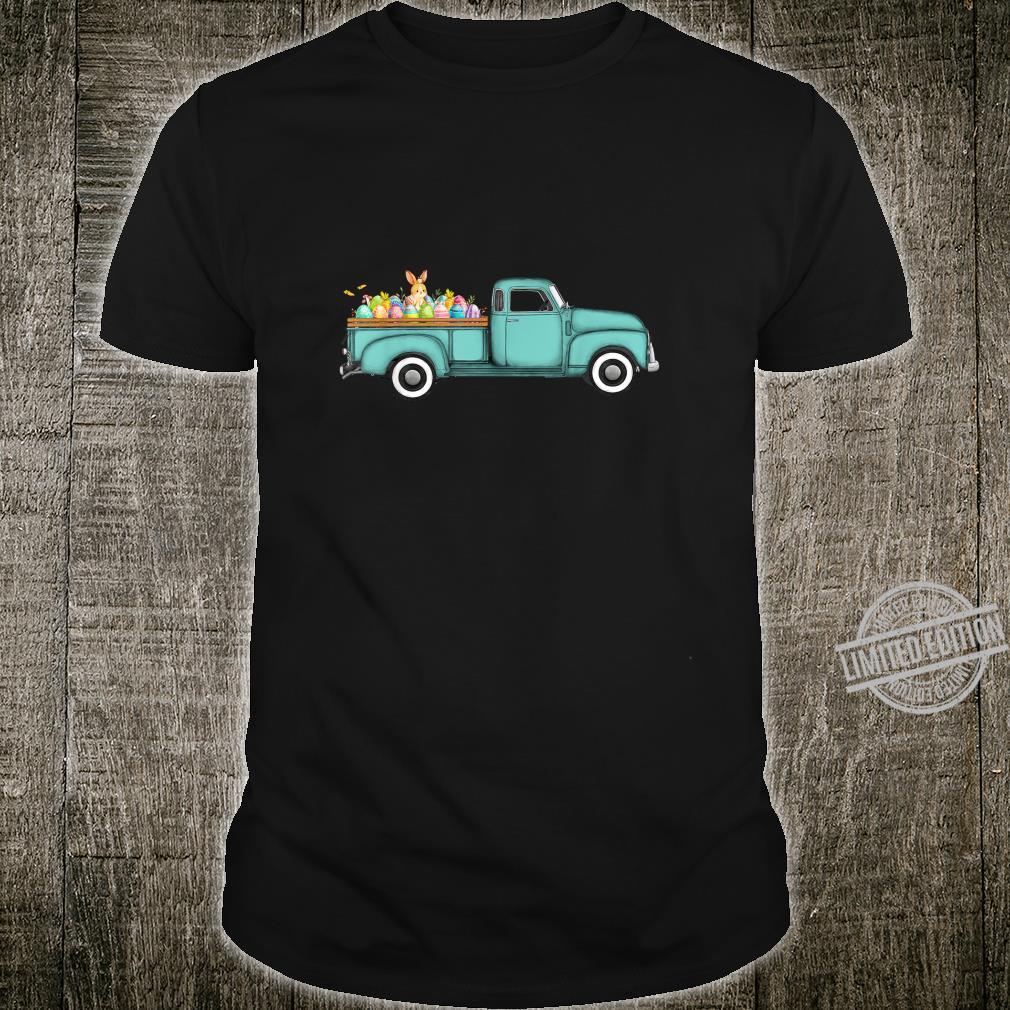 Vintage Easter Truck Bunny Eggs Girls Shirt