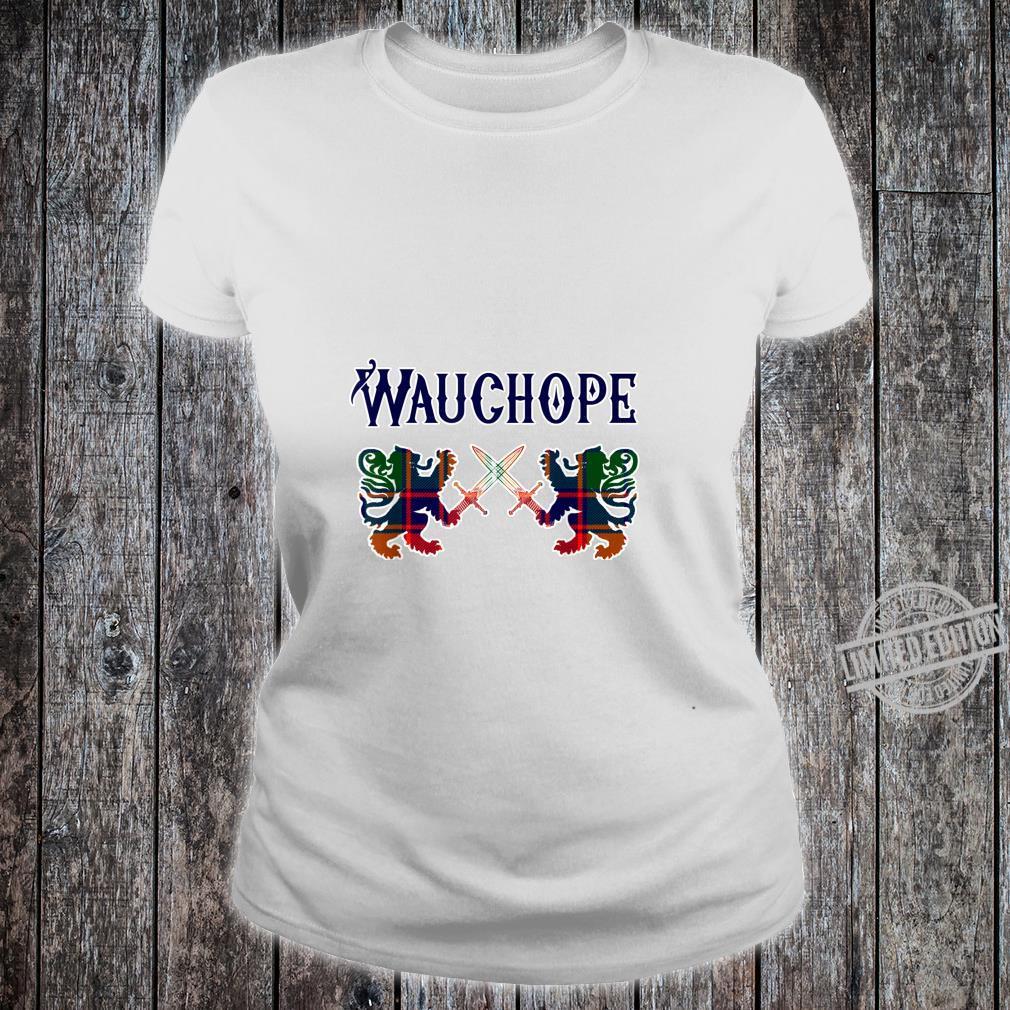 Wauchope Scottish clan Lion Family Name Shirt ladies tee
